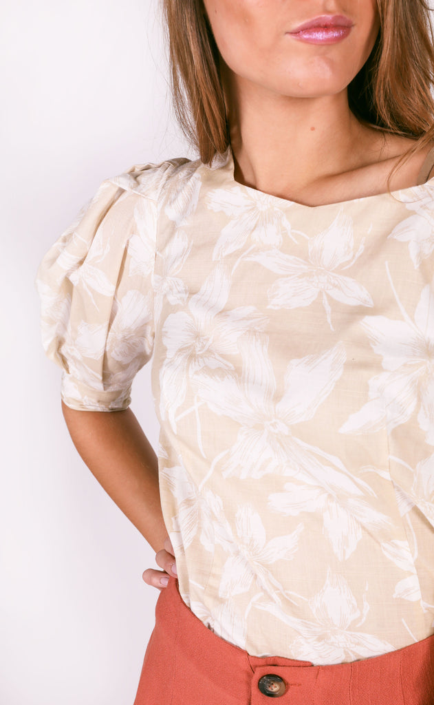 soul searching floral top