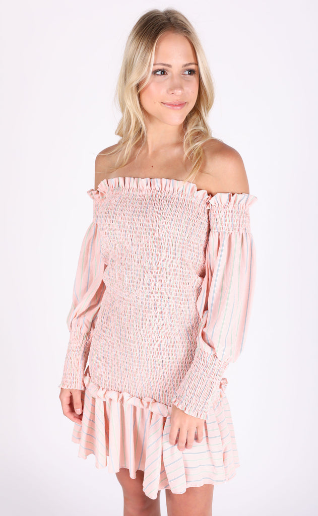 south of france off the shoulder dress