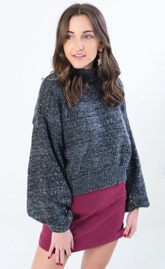 sparkle the fire crop sweater