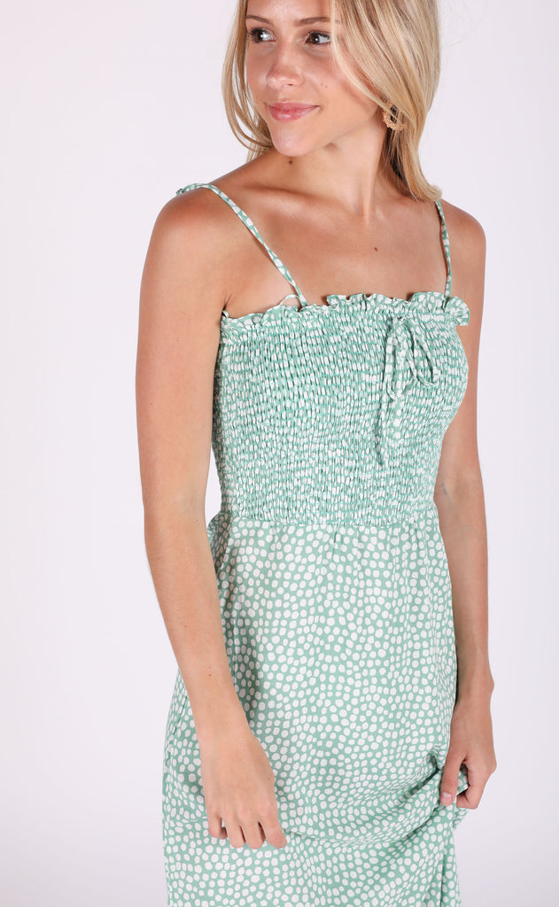 spearmint printed dress
