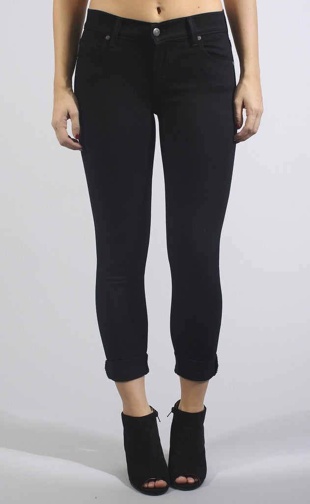 spencer midrise roll crop jeans