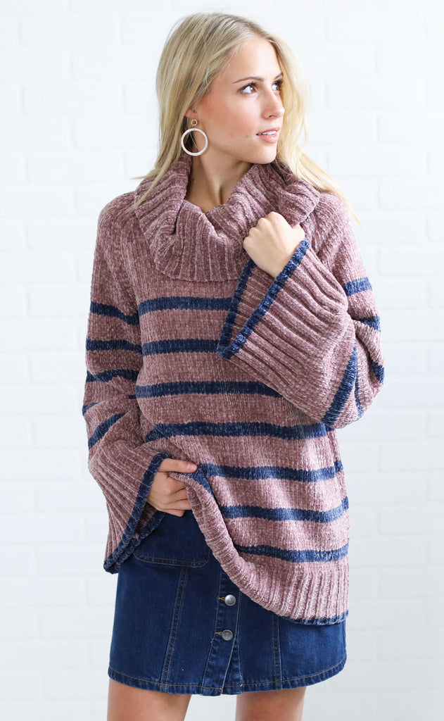 spiced chai striped sweater