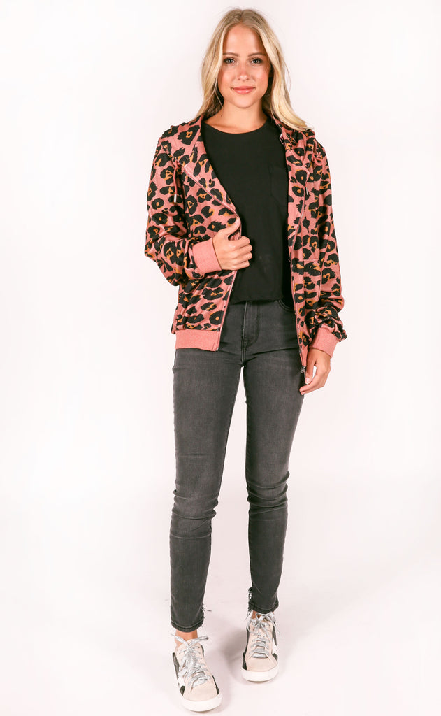 sporty leopard jacket