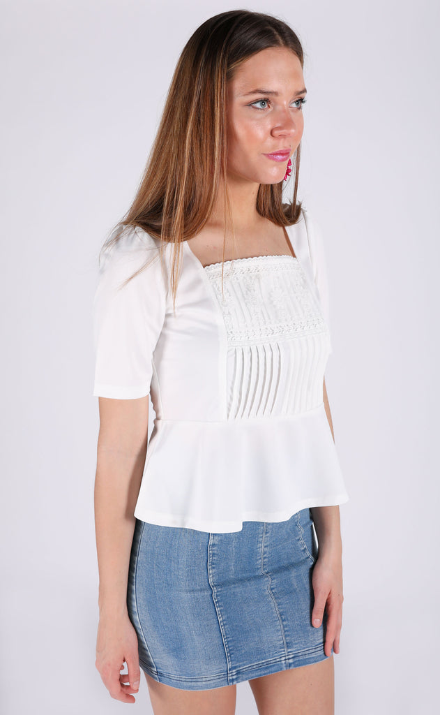spring fever embroidered top