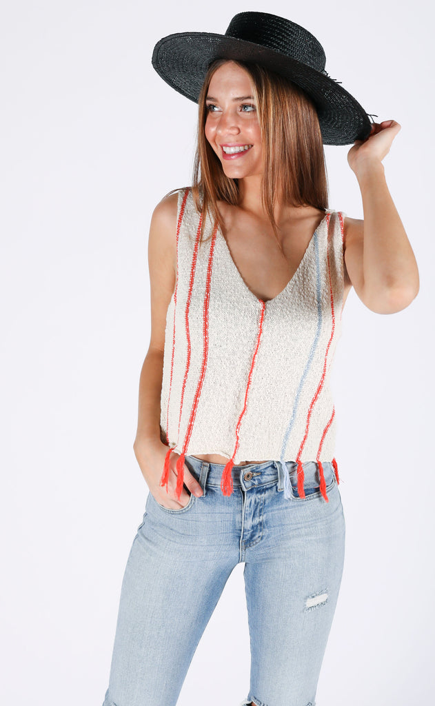 spring forward knit tank top