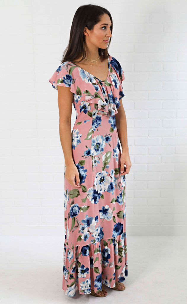 sprinting into spring floral dress