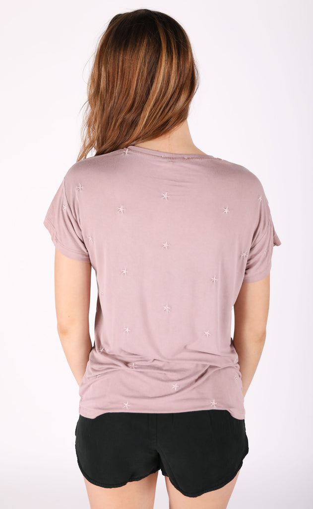star bright embroidered tee