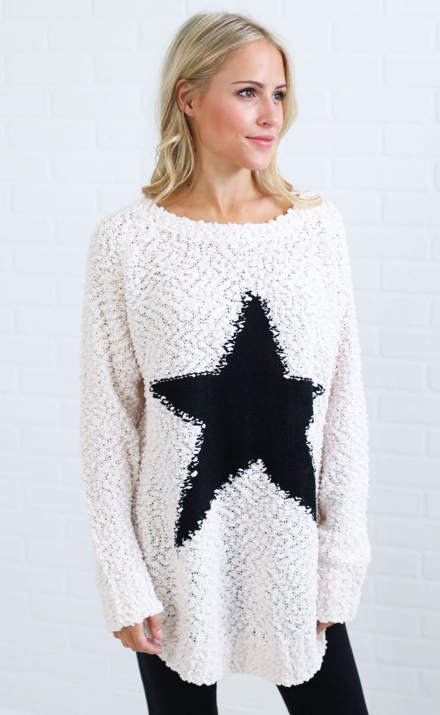 star girl knit sweater