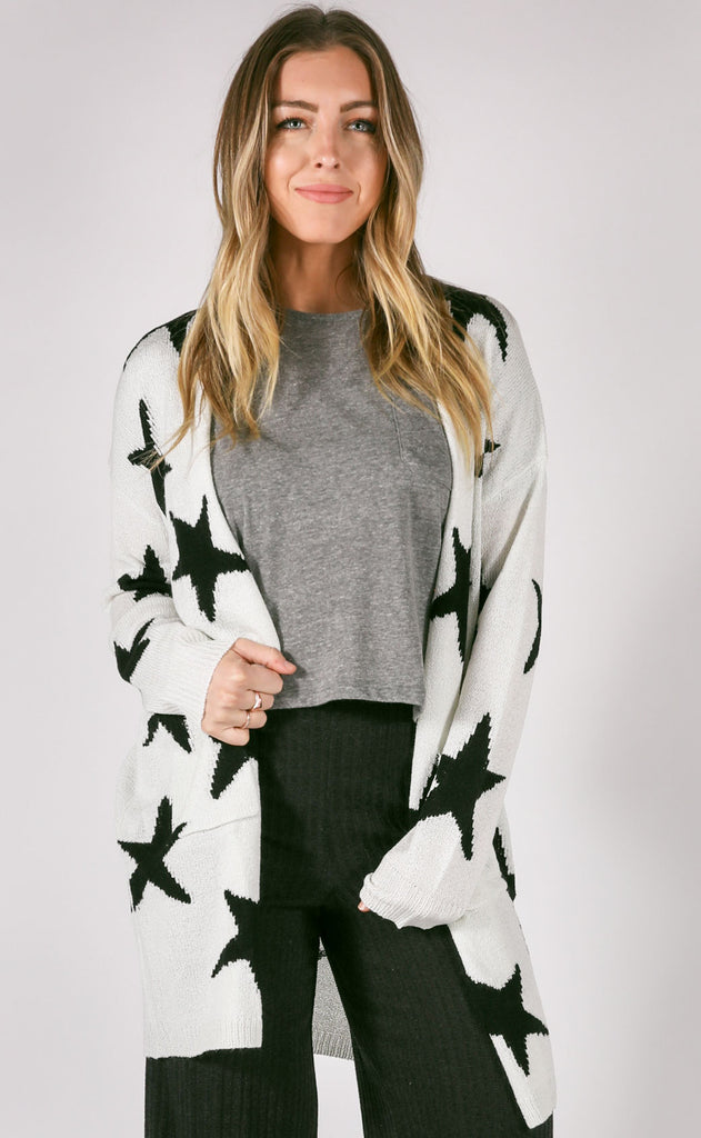 star quality knit cardigan - ivory