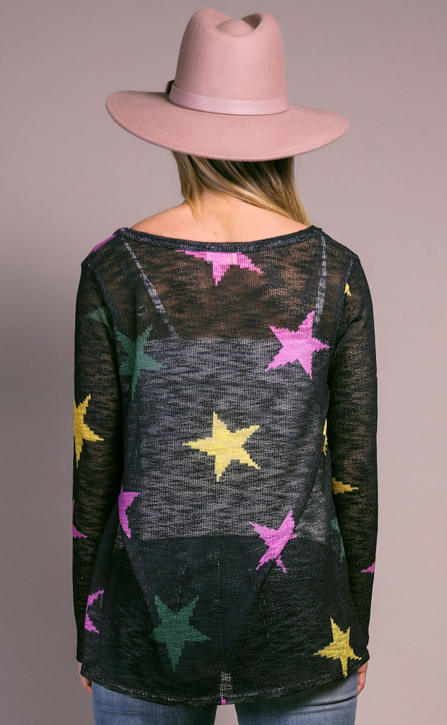 starlight knit sweater - black