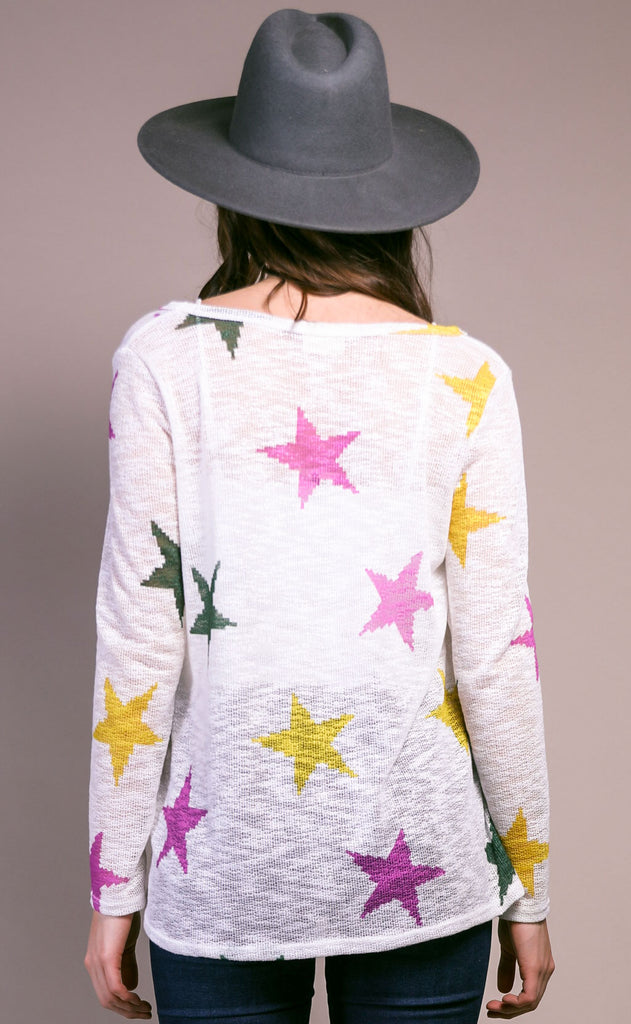 starlight knit sweater - ivory