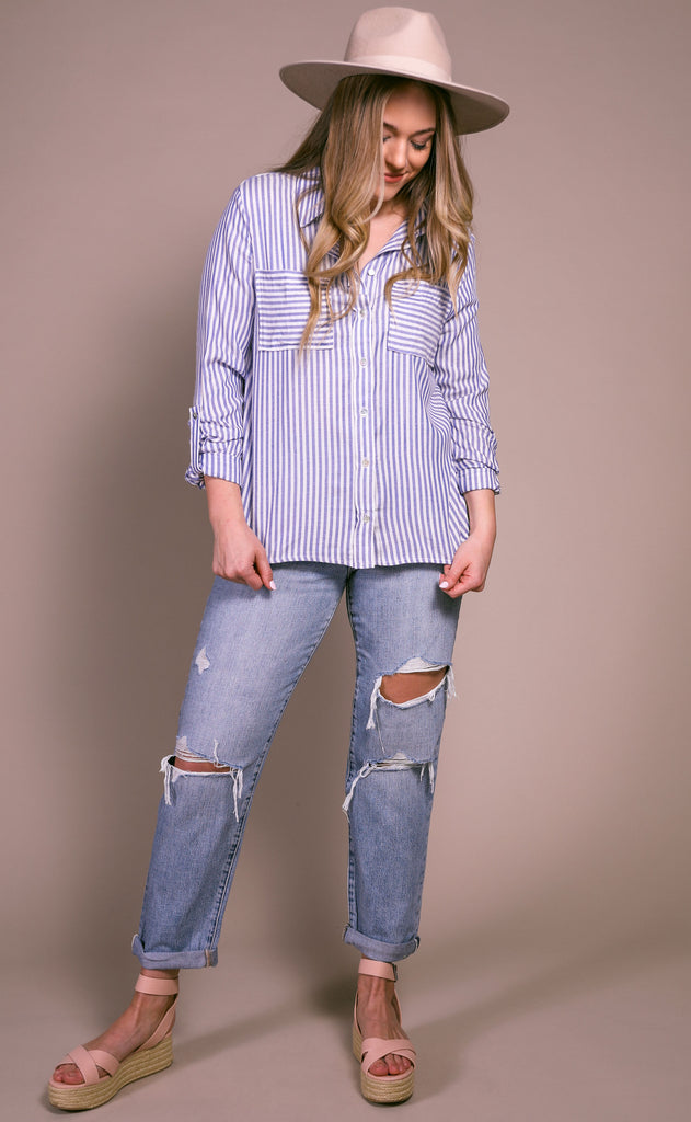 staying seaside button down shirt