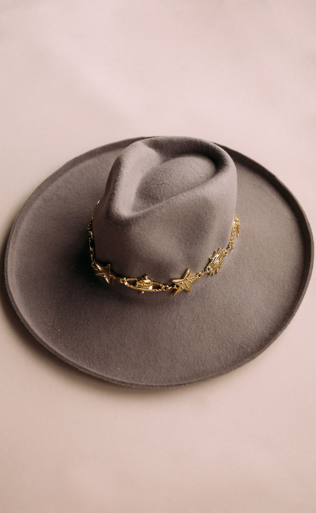 eastnwestlabel: stella chain hat - grey