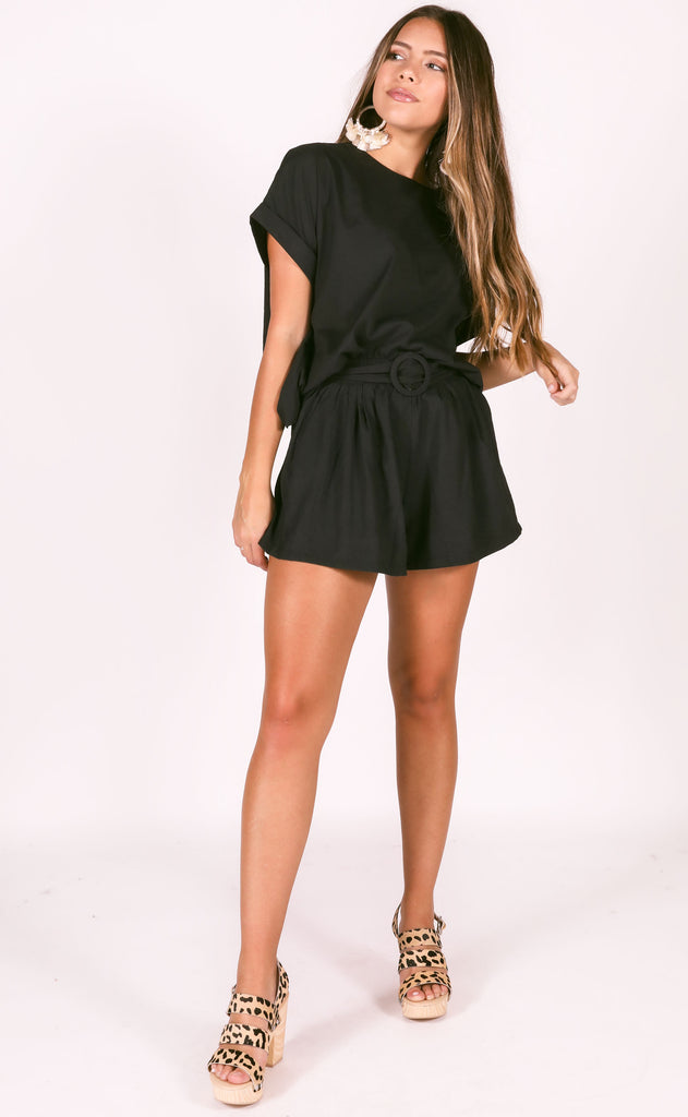 stick together two piece set - black