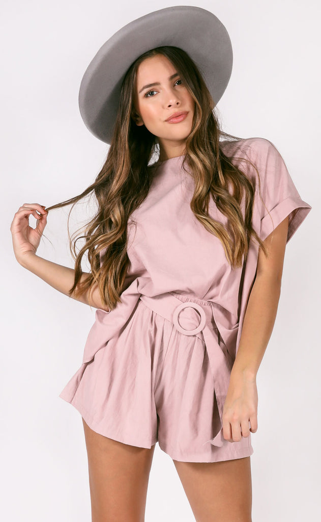 stick together two piece set - blush