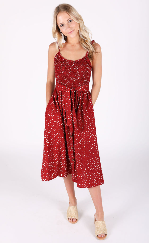 strawberry fields printed dress
