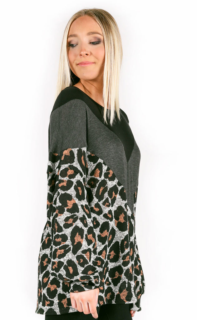 street chic leopard top