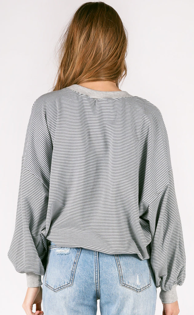 stripe right oversized pullover