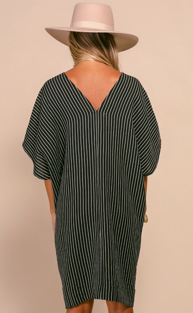 striped out oversized tunic
