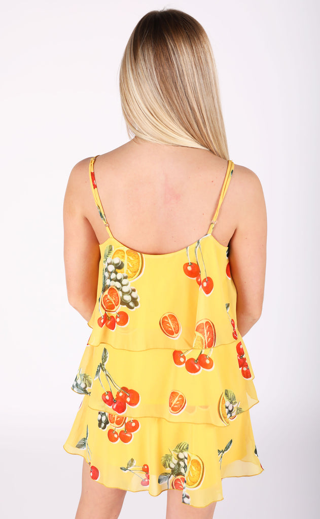 show me your mumu: suarez ruffle dress - fruit basket
