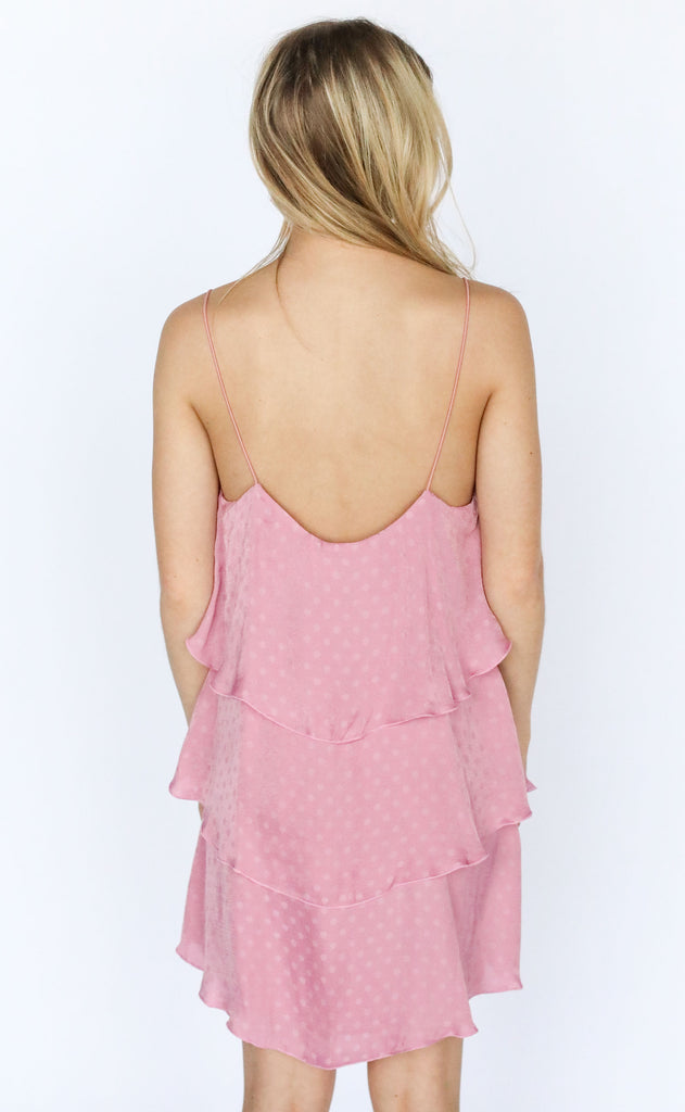 show me your mumu: suarez ruffle dress - primrose silky dots