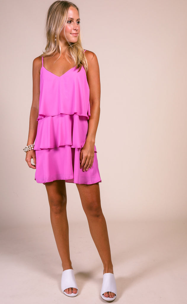 show me your mumu: suarez ruffle dress - orchid pink