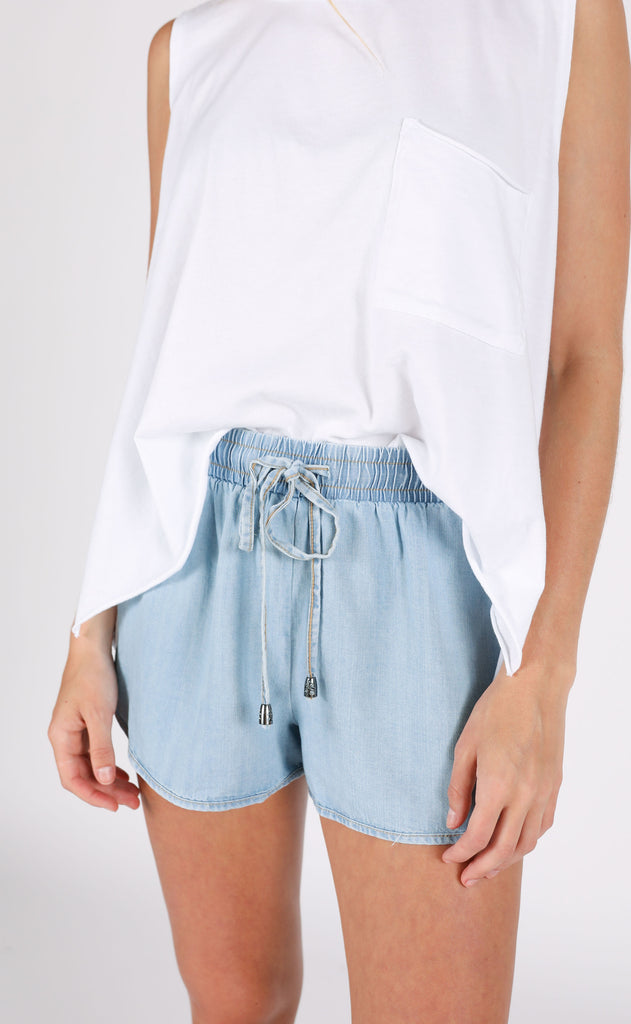 summer day chambray shorts