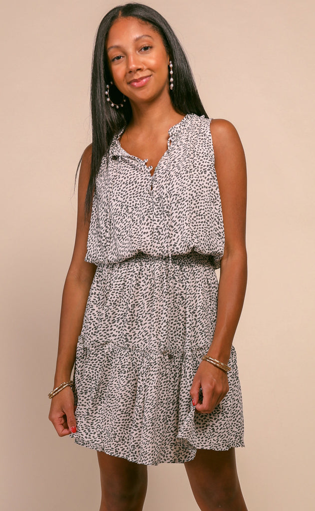 summer breeze printed dress