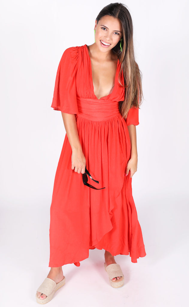 summertime magic maxi dress