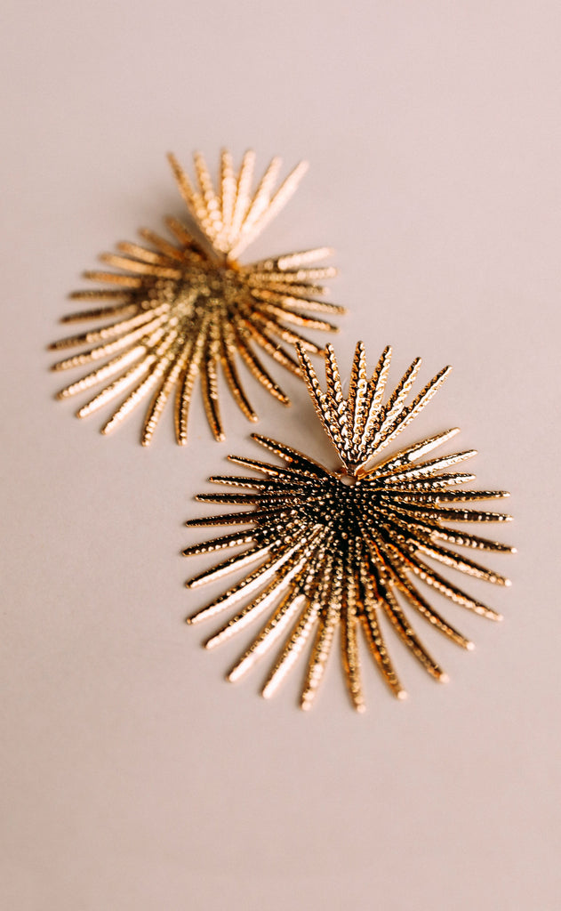 sunburst statement earrings