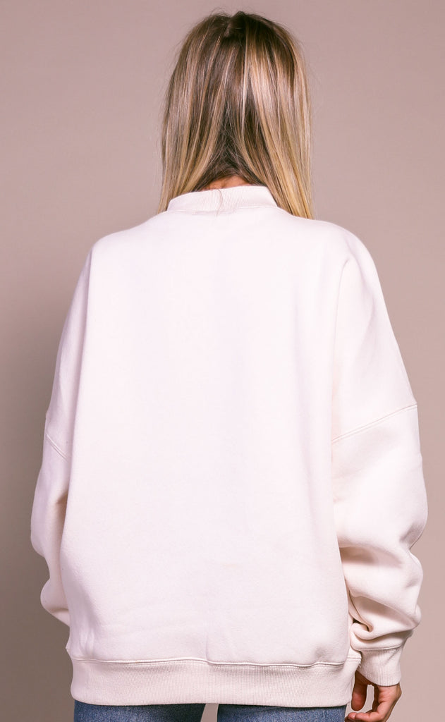sunday morning oversized sweater - cream