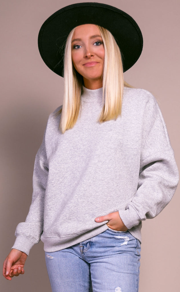 sunday morning oversized sweater - gray