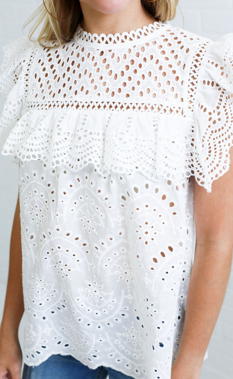 sunday stroll lace top