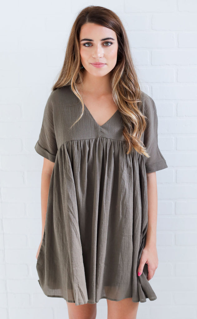 sunkissed babydoll dress - olive