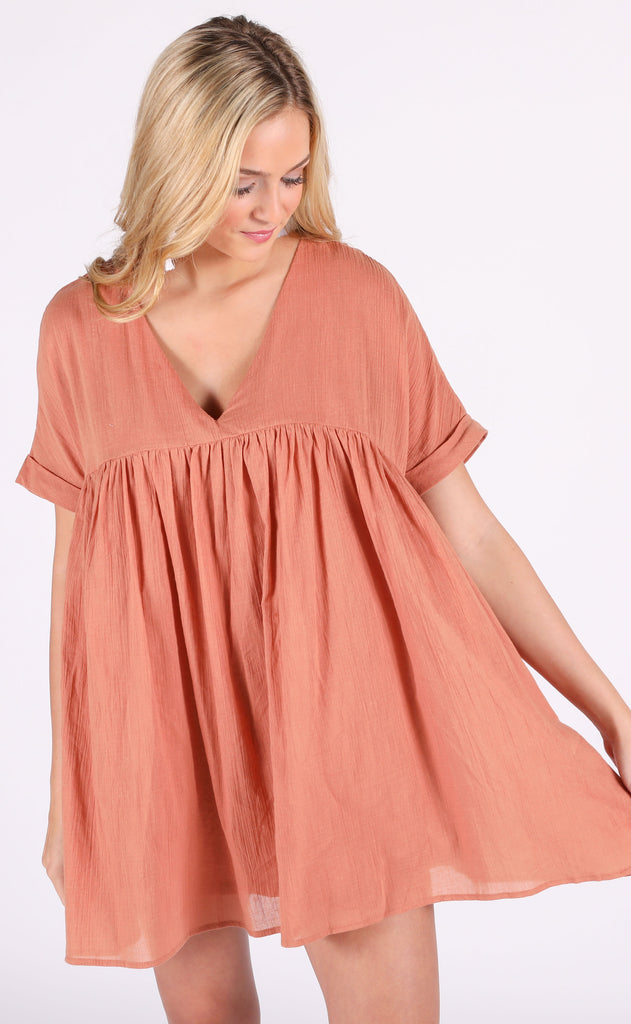 sunkissed babydoll dress - ginger