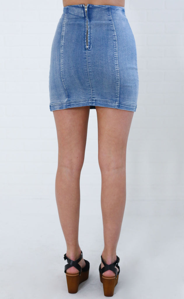 sunny day denim skirt