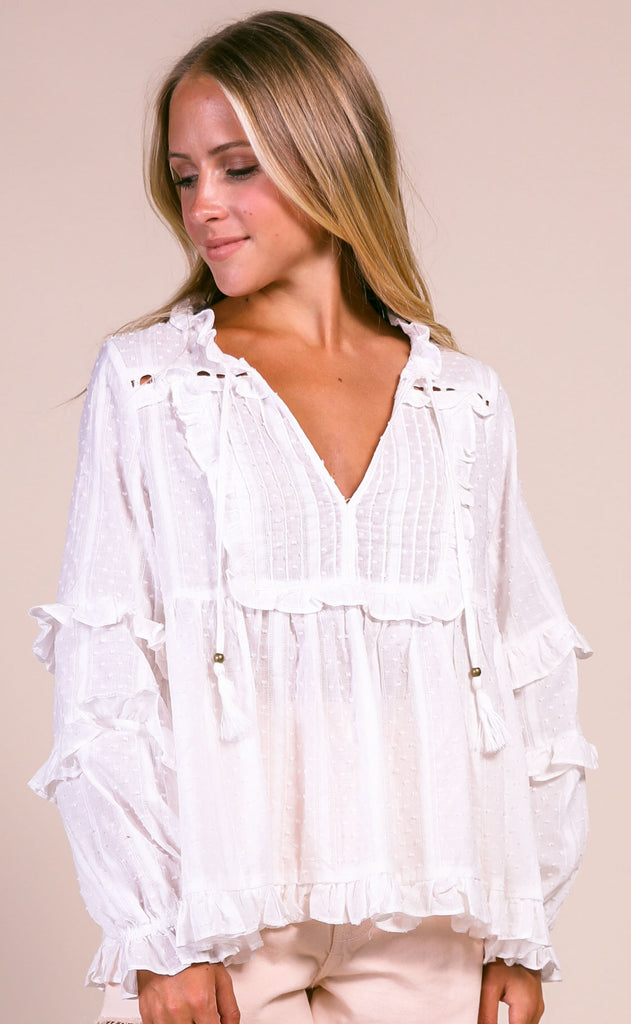 sunny days peasant blouse