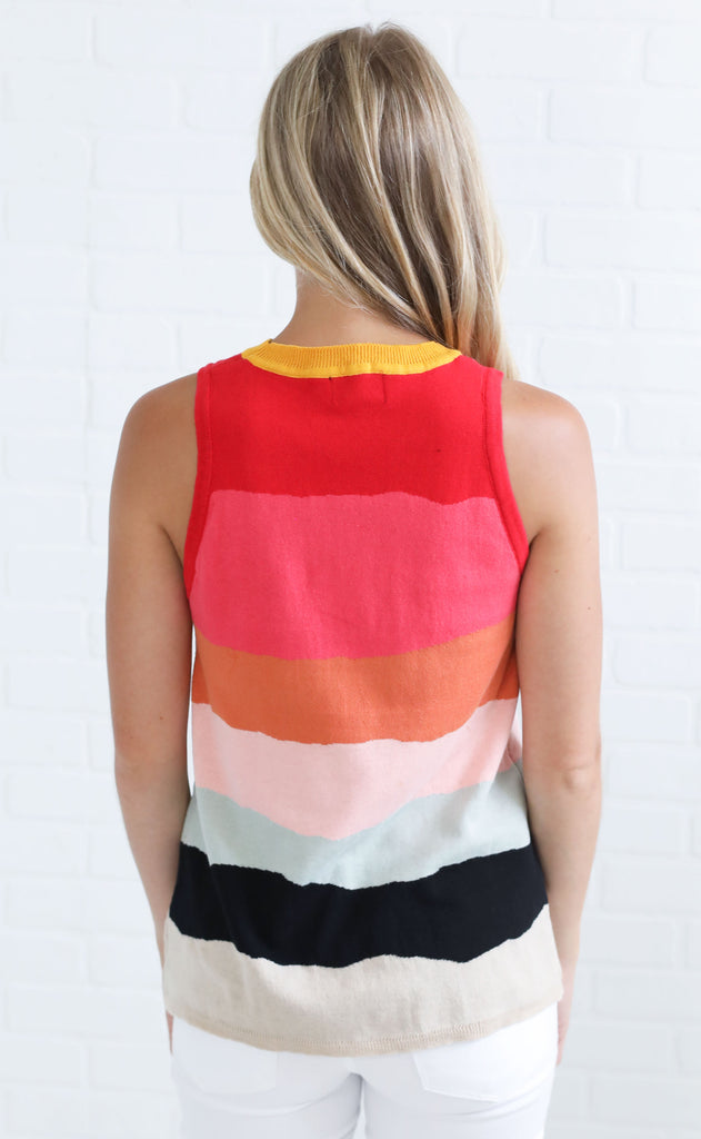 sunset view tank top
