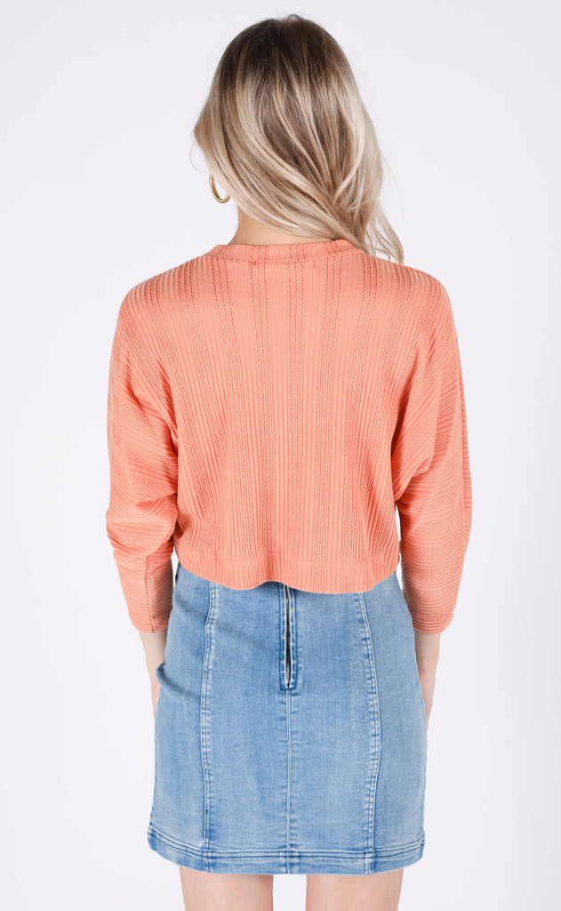sunset views knit top