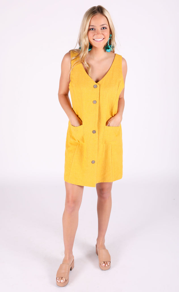 sunshine button up dress