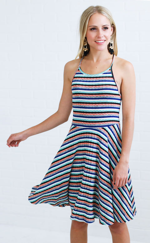 sweet like sorbet striped dress