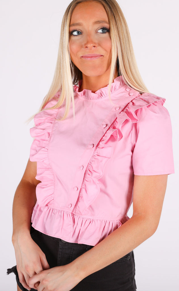 sweet summertime ruffle top