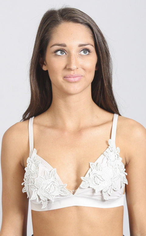 sweetest thing lace bralette - silver