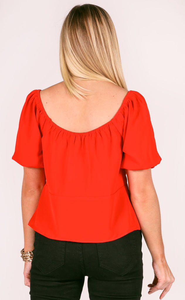 sweetheart v-neck top