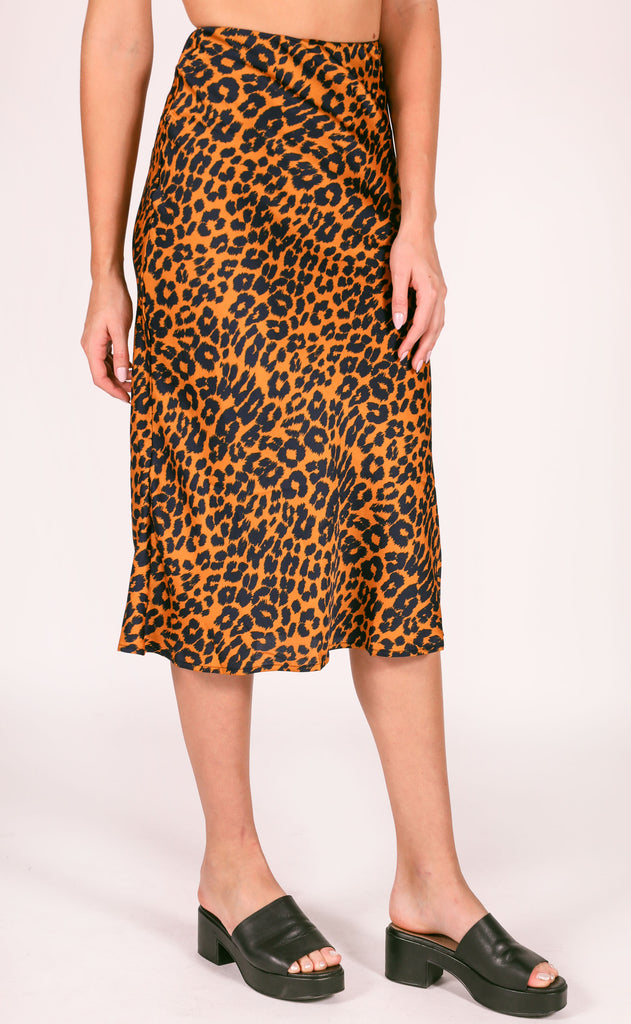 switch it up midi skirt - orange