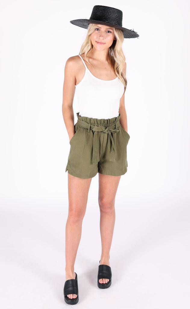 take it easy belted shorts