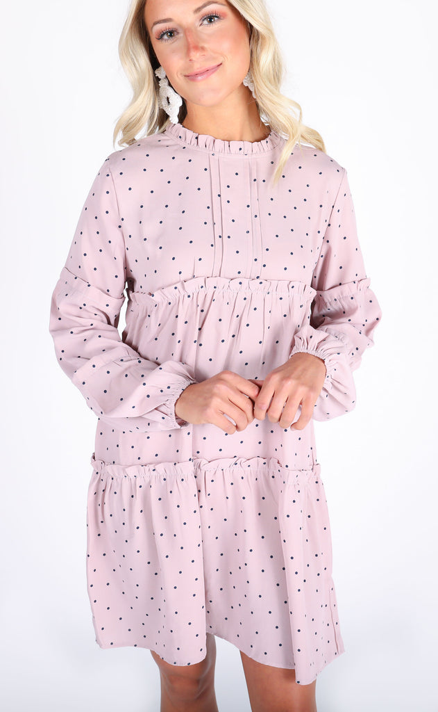 take it easy babydoll dress - blush