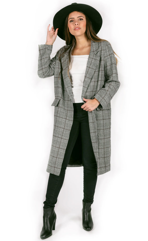 take it easy plaid coat