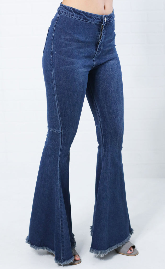 take me out flare jeans - dark blue