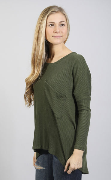 take over long sleeve top - olive